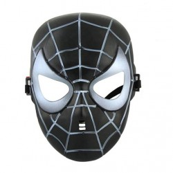 Spiderman maske (sort)