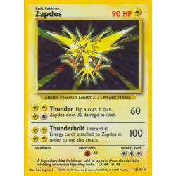 Zapdos (holo/glimmer) (brugt stand)