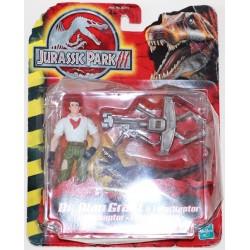 Dr. Alan Grant & Velociraptor (Jurassic Park 3) (Ny, men slidt æske)
