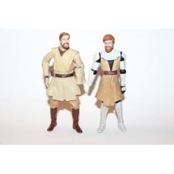 2 x Kampskadede Obi-Wans (Mangler en hånd hver!)