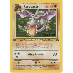 Aerodactyl (prerelease) (1st Edition!) Moderately Played Condition
