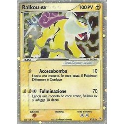 Raikou EX (ultra-rare) slightly played condition (originalt italiensk kort)