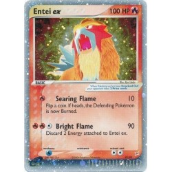 Entei EX (ultra-rare) moderately played