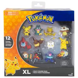 Pokémon figurer 12-pak (Bl.a. Pikachu, Litten & Rowlet)