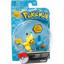 Pikachu & Mudkip Tomy Pokemon figures 2-pack