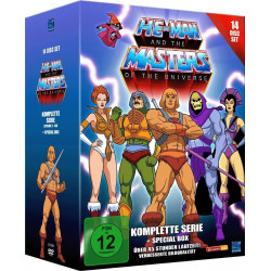 He-Man and the Masters of the Universe complete Series + Special Box 14 DVD (Engelsk & Tysk sprog)
