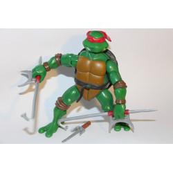 Combat warriors Raph 2005 - TMNT figure (Bæltet mangler et stykke, men 3 våben følger med)
