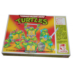 Teenage Mutant Hero Turtles - Danish Language Card Game (Complete)