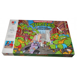 Teenage Mutant Hero Turtles Pizza Power Game 1990 - Næsten komplet (Mangler en enkel kloakdæksel-brik)