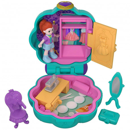 Polly Pocket Fiercely Fab Studio Compact Tiny Pocket World