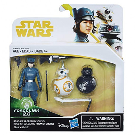 Rose (First Order Disquise) & BB-8 & BB-9E 3.75 inch Star Wars Solo: a Star Wars Story Force Link Action Figure 2-Pack