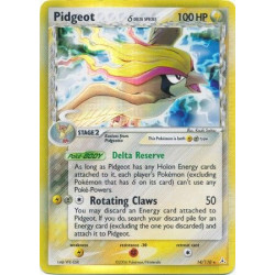 Pidgeot (Delta Species) (brugt stand) - EX Holon Phantoms - 14/110 - holo rare