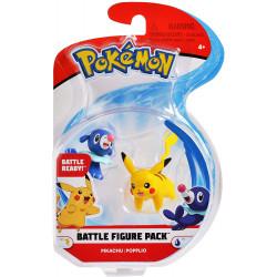 Pikachu & Popplio pokemon figurer - Ny battle figure 2-pack