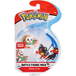 Rowlet & Litten pokemon figures - New battle figure 2-pack