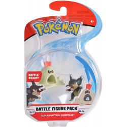 Alolan Rattata & Sandygast pokemon figures - New battle figure 2-pack
