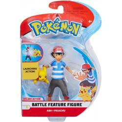 Ash & Pikachu Deluxe Pokemon figures - Battle feature figure