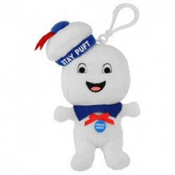 Ghostbusters Plush Bagclip Stay Puft with sound 14 cm