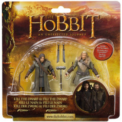 Kili the dwarf & Fili the dwarf - 10 cm Hobbitten Actionfigur 2-pack