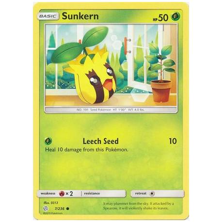 Sunkern - Pokemon Sun & Moon: Cosmic Eclipse - 7/236 - Common