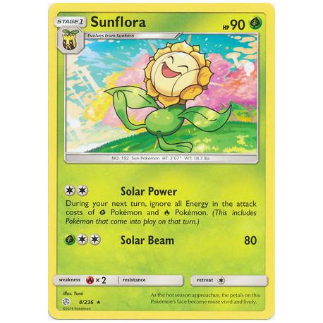 Sunflora - Pokemon Sun & Moon: Cosmic Eclipse - 8/236 - Rare
