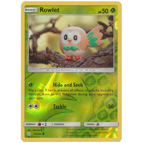 Rowlet - Pokemon Sun & Moon: Cosmic Eclipse - 17/236 - Common Reverse Holo