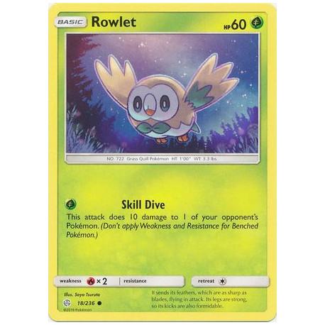 Rowlet - Pokemon Sun & Moon: Cosmic Eclipse - 18/236 - Common