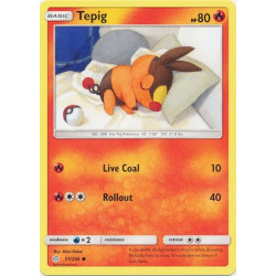 Tepig - Pokemon Sun & Moon: Cosmic Eclipse - 31/236 - Common