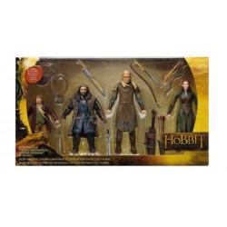 The Hobbit 4-pack Bilbo Baggins, Thorin Oakenshield, Legolas Greenleaf & Tauriel (New box. Box has shelfware) Bridge Direct