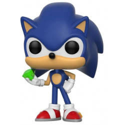 FORUDBESTIL: Sonic The Hedgehog Funko POP! Games Vinyl Figure Sonic (Emerald) 9 cm